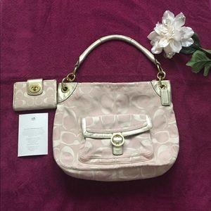 Authentic!!! Coach handbag plus wallet